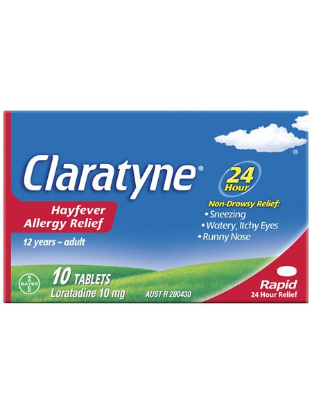 Claratyne Hayfever Allergy Relief Antihistamine Tablets 10 pack