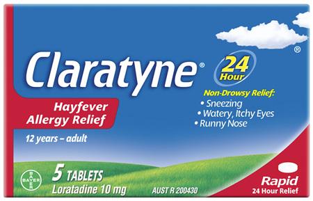 Claratyne Hayfever Allergy Relief Antihistamine Tablets 5 pack