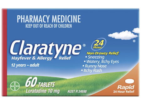 Claratyne Hayfever & Allergy Relief Antihistamine Tablets 60 pack