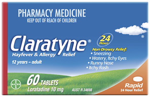 Claratyne Hayfever & Allergy Relief Antihistamine Tablets 60 pack