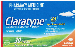 Claratyne Hayfever & Allergy Relief Antihistamine Tablets 30 pack