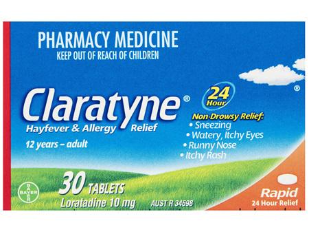 Claratyne Hayfever & Allergy Relief Antihistamine Tablets 30 pack