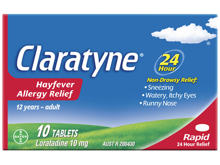 Claratyne Hayfever Allergy Relief Antihistamine Tablets 10 pack