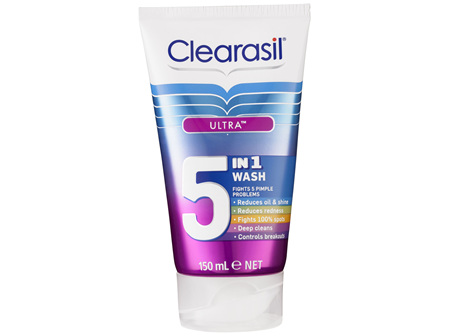 Clearasil Ultra 5 in 1 Face Wash Pimple Cleanse 150ml