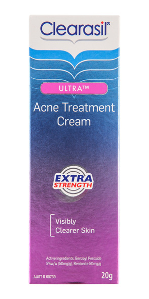 Clearasil Ultra Acne Treatment Extra Strength Face Cream Reduce Pimples 20g