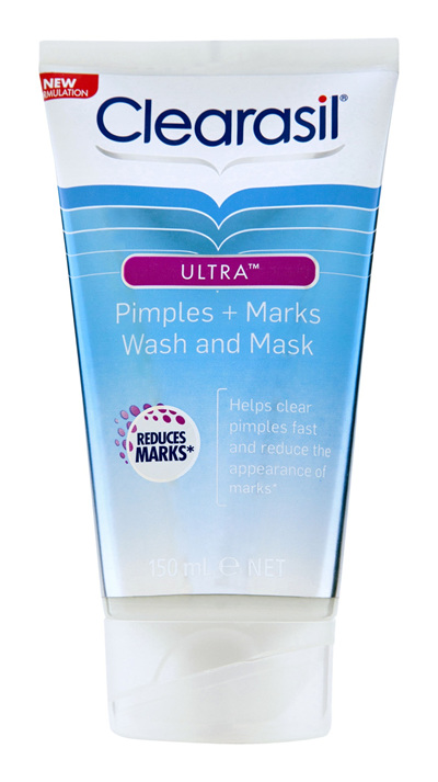 Clearasil Ultra Pimples & Marks Face Wash and Mask Reduce Pimples 150ml