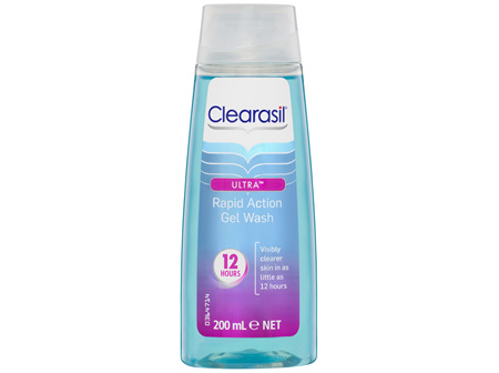 Clearasil Ultra Rapid Action Gel Wash 200mL