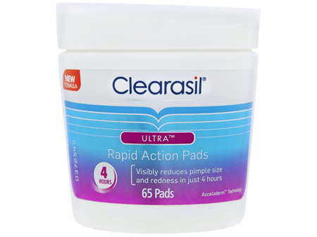 Clearasil Ultra Rapid Action Pimple Cleanse Pads Pack of 65 Wipes