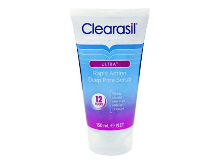 Clearasil Ultra Rapid Deep Pore Face Scrub Pore Clearnse Exfoliation 150ml