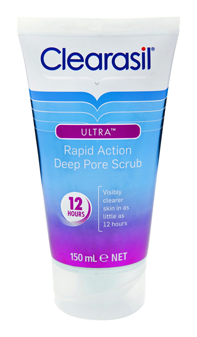 Clearasil Ultra Rapid Deep Pore Face Scrub Pore Clearnse Exfoliation 150ml