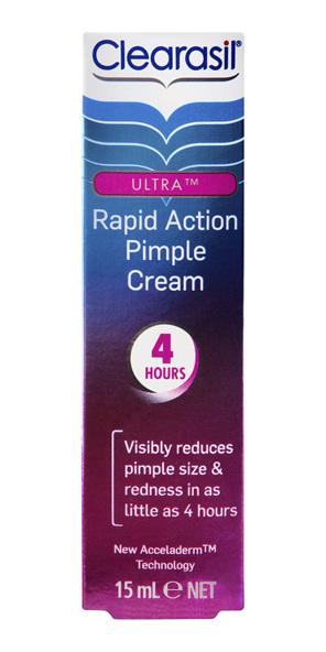 Clearasil Ultra Rapid Treatment Cream Reduce Pimples 15gm