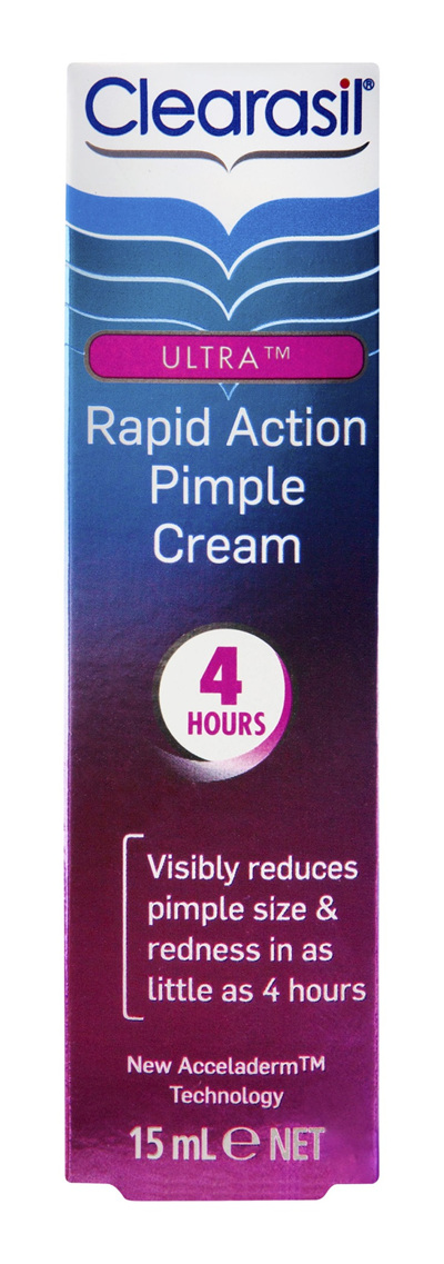 Clearasil Ultra Rapid Treatment Cream Reduce Pimples 15gm