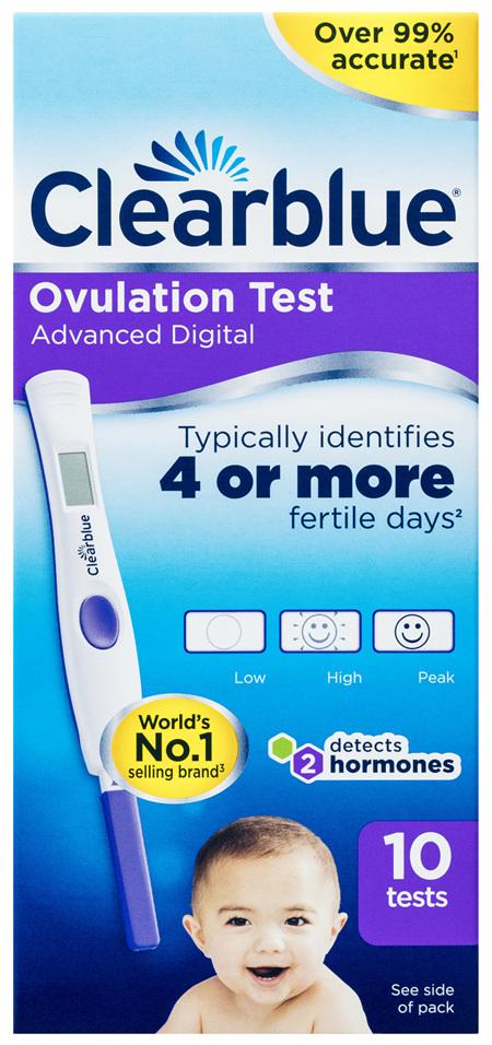 Clearblue Advanced Digital Ovulation Test, 10