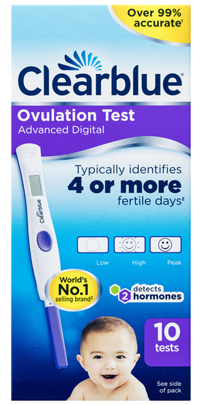 Clearblue Advanced Digital Ovulation Test, 10 Tests