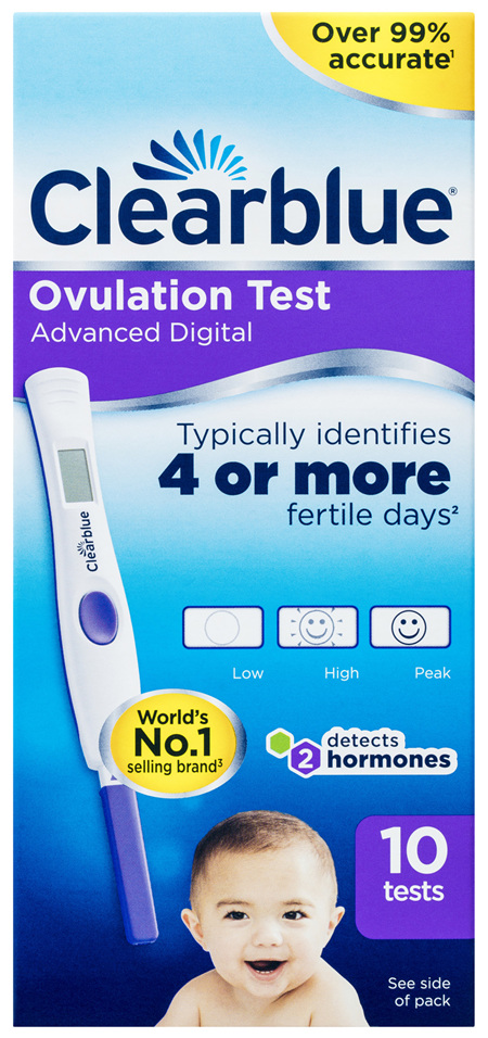 Clearblue Advanced Digital Ovulation Test Kit (OPK) 10 Tests