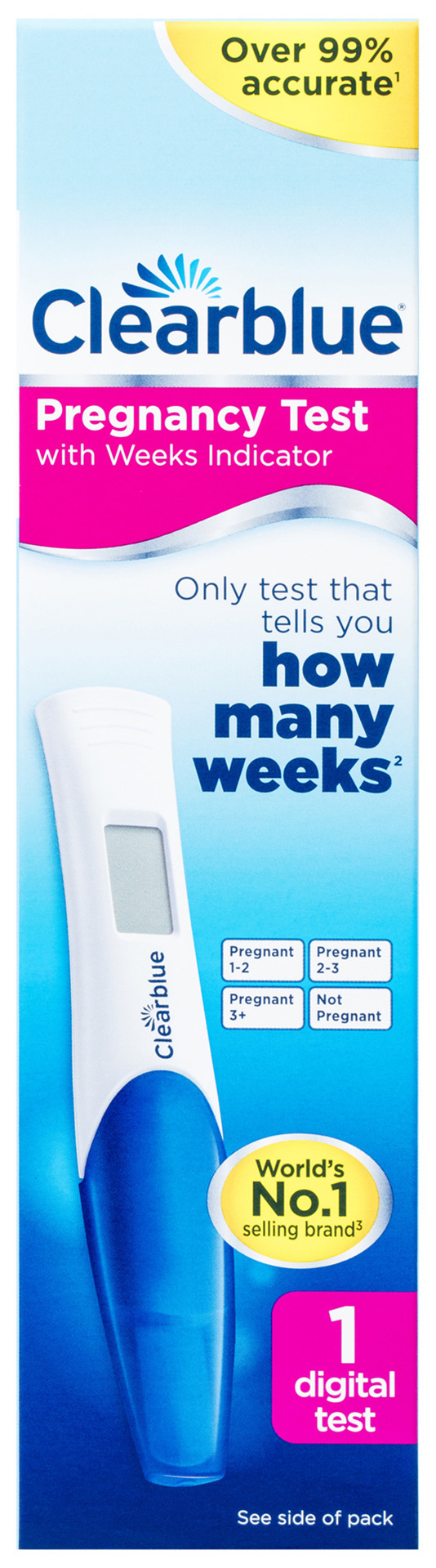 Clearblue Pregnancy Test with Weeks Indicator, Kit Of 1 digital Test
