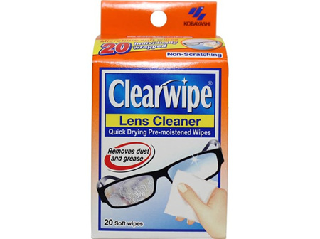 Clearwipe Lens Cleaner Soft Wipes 20s