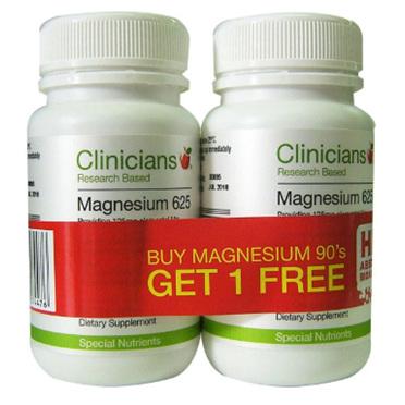 CLINICIANS Magnesium 90cap 2pk
