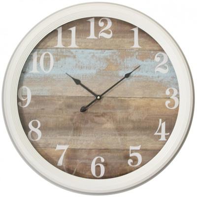 Clock Teal Framed