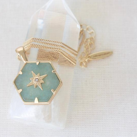 Cloud Nine Gold Aventurine Guiding Forces Necklace
