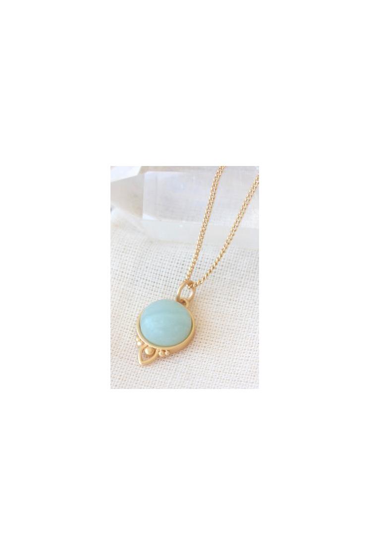 Cloud Nine Gold Healing Gemstone Necklace Aventurine