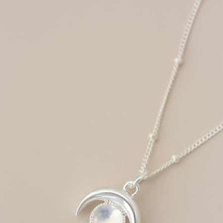 Cloud Nine Luna Moonstone Necklace Silver