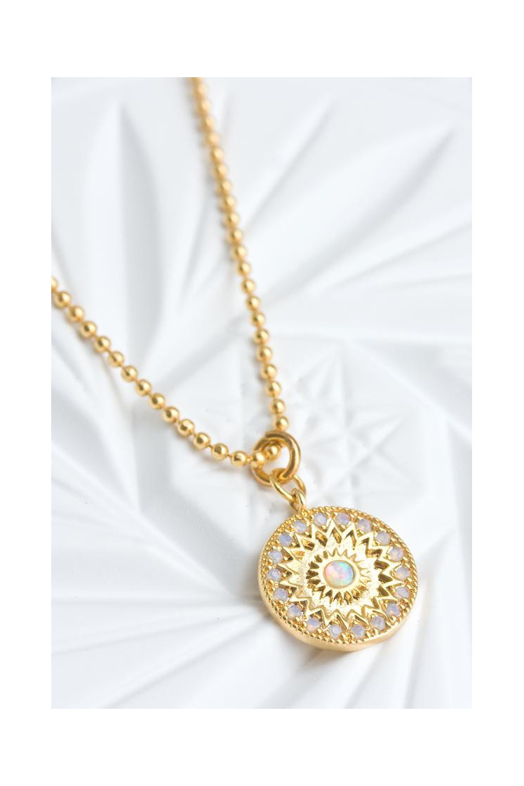 Cloud Nine Mandala Necklace Gold