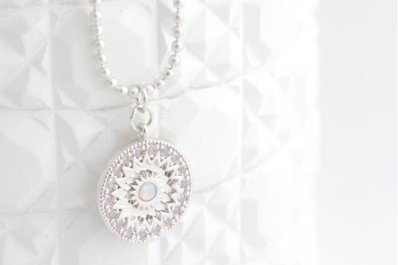 Cloud Nine Mandala Necklace Silver