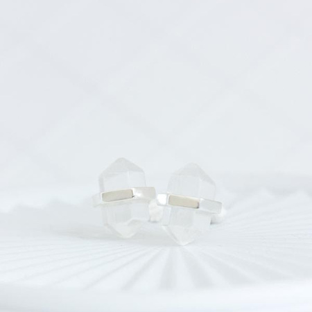 Cloud Nine Silver Crystal Intention Studs