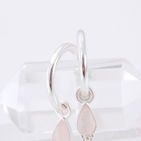 Cloud Nine Silver Healing Gemstone Earrings Rose Quartz