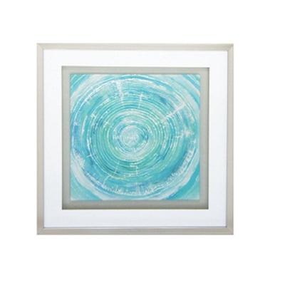 Coastal Swirl Art - Glass Framed