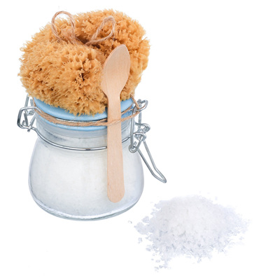 Coconut Body Scrub & Sea Sponge Set