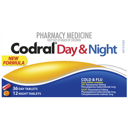 Codral Cold & Flu Day & Night Tablets 48 Pack
