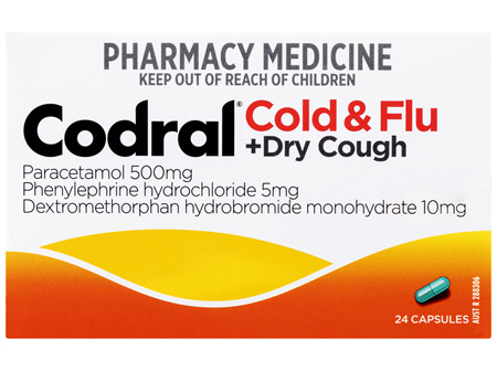 Codral Cold & Flu + Dry Cough 24 Capsules