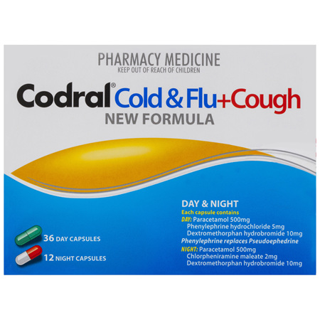 Codral Cold & Flu + Dry Cough Day & Night Capsules 48 Pack