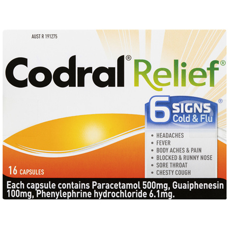 Codral Cold & Flu + Mucus Cough 16 Capsules