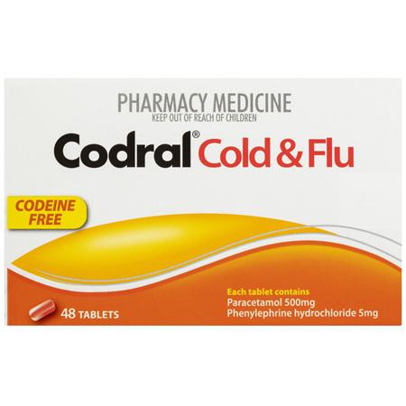 Codral Cold & Flu Tablets 48 Pack