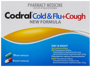 Codral Cold & Flu+Cough Day & Night 24 Capsules