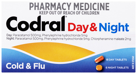Codral Day & Night Cold & Flu 24 Tablets