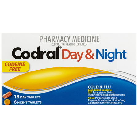 Codral Day & Night Colds & Flu Tablets 24 Pack