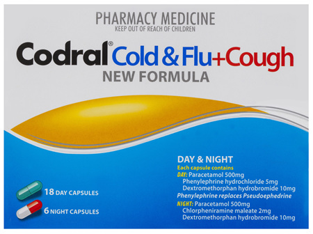 Codral Day & Night + Dry Cough 24 Capsules