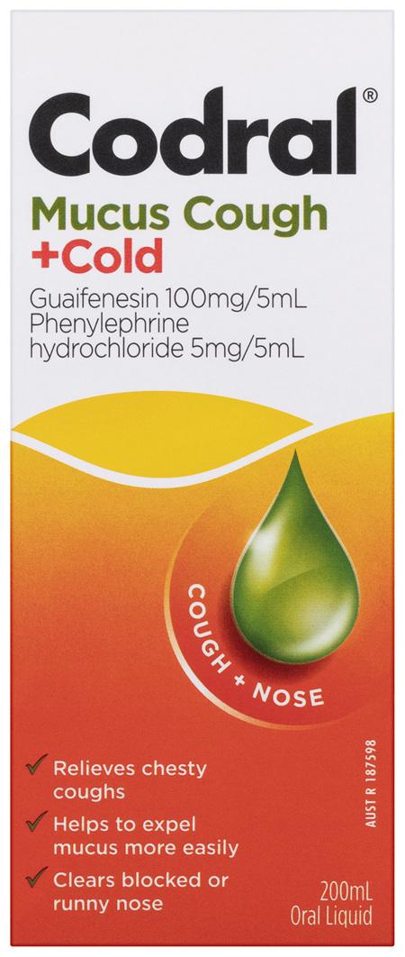 Codral Mucus Cough +Cold Oral Liquid 200mL