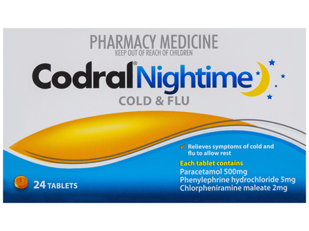 Codral Nightime Cold & Flu 24 Tablets