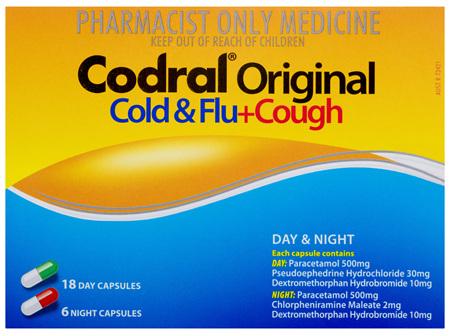 Codral Original Cold & Flu + Cough Day & Night 24 Pack