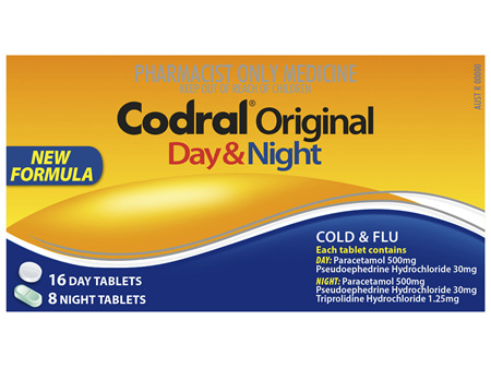 Codral Original Day & Night Tablets 24 Pack