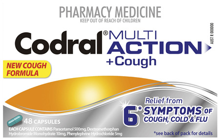 Codral PE Cold & Flu Multi-Action Capsules 48 Pack