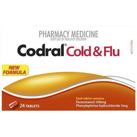 Codral PE Cold & Flu Tablets 24 Pack