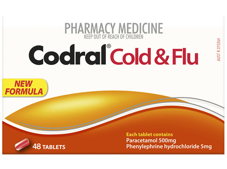 Codral PE Cold & Flu Tablets 48 Pack