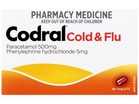 Codral PE Cold & Flu Tablets 48 Pack