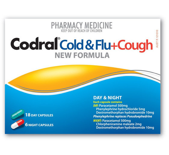 Codral Pe Cold & Flu Tablets Plus Cough Day/Night 24